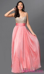Вечернее ,  воздушное,  коралловое платье.