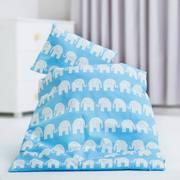 Детское белье в кроватку для новорожденных,  Комплект Слоники голубы