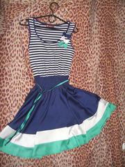 Женское летнее платье в морском стиле