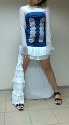 Платье свадебное джинсовое креативное