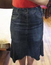 Продам джинсовую юбку б/у