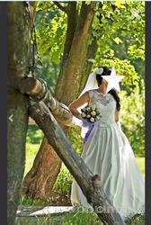 Свадебное платье с чехлом