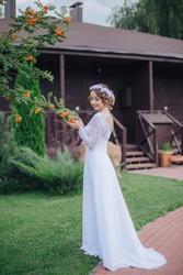 Продам очень нежное,  лёгкое свадебное платье)