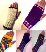 Вязаные митенки - перчатки без пальцев.