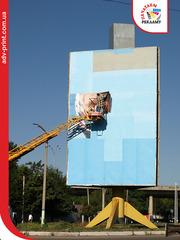 Монтаж баннера,  оклейка пленкой,  поклейка бордов (билбордов, бигбордов)