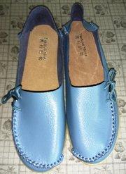 Кожаные женские мокасины размер 39-40 с eBay