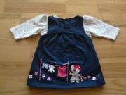 Платье с  кофточкой 0-3 месяцев