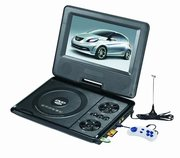 7, 6 дюймов Портативный DVD плеер Opera аккумулятор TV тюнер USB
