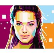 Картина по номерам Анжелина Джоли