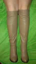 Зимние сапоги Brocoly кожаные коричневые,  бежевые
