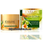 Eveline Cosmetics Argan&Olive Крем против морщин,  восстанавливающий но