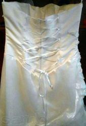 Шикарное свадебноевыпускное платье цвета айвори