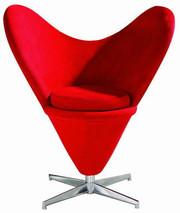 Кресло мягкое для отдыха Коразон (Сердце) красное