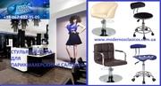 Кресла,  стулья для парикмахерских,  салонов красоты на гидравлике