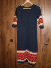 Платье вязаное с орнаментом эксклюзив