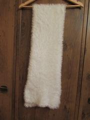 Шарф женский вязаный искусственный мех 135 см