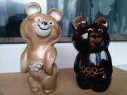 Статуэтка Олимпийский мишка. 2 шт.