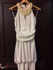 Вечернее платье с жемчугом