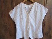 Блузка белая из ажурного хлопка