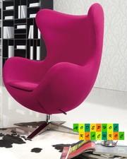 Кресло Эгг (Egg),  обивка ткань,  кашемир,  цвет розовый