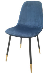 Мягкий  стул ВЕЛЮР,  синий ,  серый