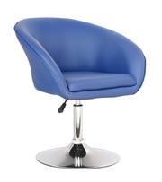 Парикмахерское кресло Мурат,  синий,  коричневый,  белый