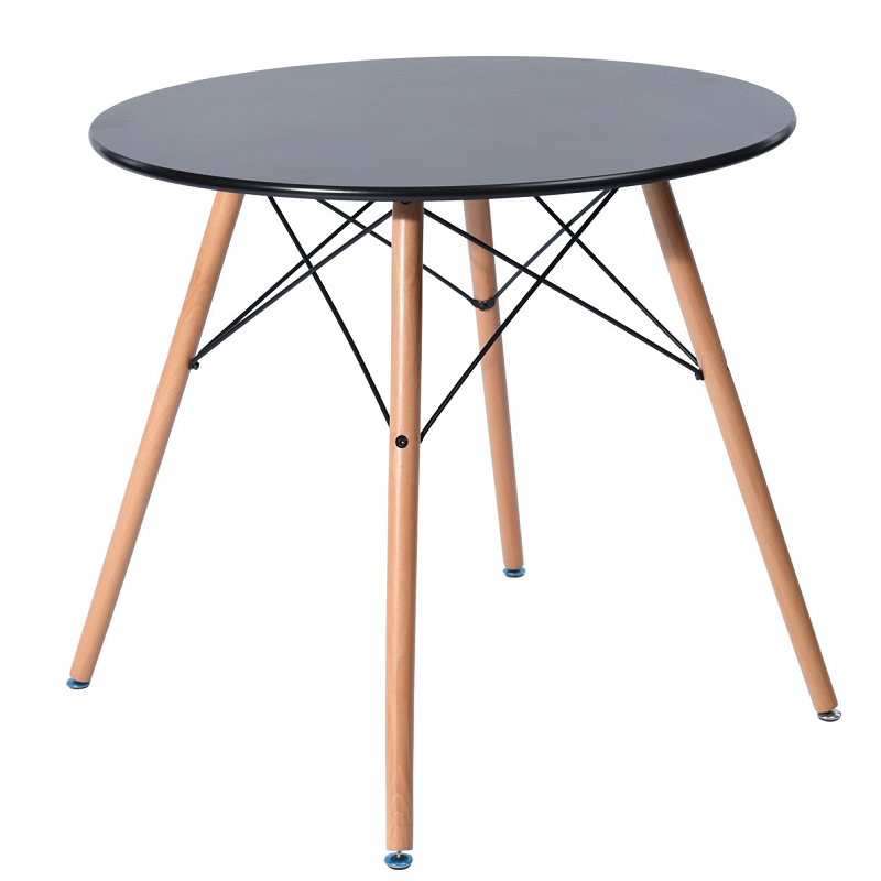 Стол обеденный Тауэр Вуд,  столешница  100 см дерево,  цвет черный