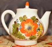 Винтажный большой и обычный чайник заварник СССР,  сервиз
