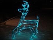 Новогодняя распродажа светодиодных оленей,  светодиодных фигур. уличные